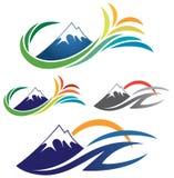 Mountain Nature logo Royalty Free Stock Photo