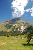 Mountain near Acquacalda. Ticini, Switzerland stock photos