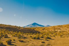 Mountain Near the Dessert Royalty Free Stock Photo