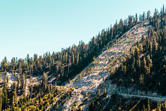 Mountain near Emerald Bay and Lake Tahoe stock images