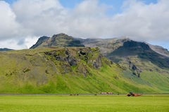 Mountain near Eyjafjallajokull volcano area in Iceland. Royalty Free Stock Image