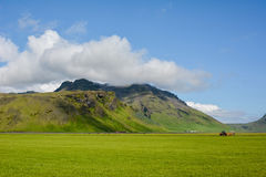Mountain near Eyjafjallajokull volcano area in Iceland. Stock Photos