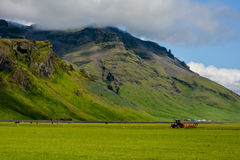 Mountain near Eyjafjallajokull volcano area in Iceland. Stock Photo