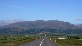 Mountain near Geysir. Beautiful panorama of mountain near Geysir in Iceland royalty free stock image