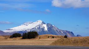Mountain near Hofn in east fjords in Iceland Royalty Free Stock Images