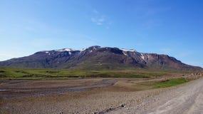 Mountain near Langjökull lake in Iceland Stock Image