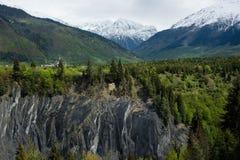 Mountain near Mestija, Georgia. Mountain and forest near Mestija, Georgia royalty free stock photography