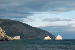 Mountain near the sea Stock Image