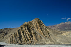 Mountain in nepal. Mountain with blue sky in nepal Stock Image