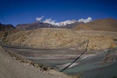 Mountain Nepal river royalty free stock image