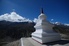 Mountain Nepali stupa Royalty Free Stock Photos