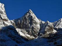 Mountain next to the Cho La pass trekking route Royalty Free Stock Images