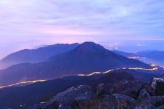 Mountain at night Royalty Free Stock Image