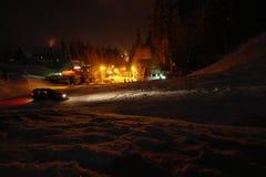 Mountain night scene Royalty Free Stock Image