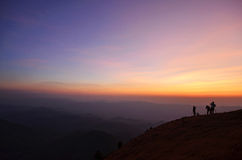 Mountain in the north of Thailand Stock Photos