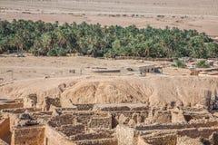 Mountain oasis Chebika at border of Sahara, Tunisia, Africa Royalty Free Stock Photos