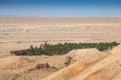 Mountain oasis Chebika at border of Sahara, Tunisia, Africa Royalty Free Stock Photo
