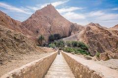 Mountain oasis Chebika in Sahara desert, Tunisia Royalty Free Stock Photography