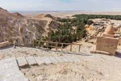 Mountain oasis Chebika in Sahara desert, Tunisia Stock Image