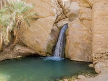 Mountain oasis Chebika in Sahara desert, Tunisia Stock Image