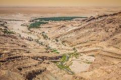 Mountain oasis Tamerza in Tunisia near the border with Algeria. Stock Photos