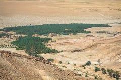 Mountain oasis Tamerza in Tunisia near the border with Algeria. Stock Images