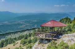 Mountain observation house Stock Image