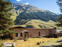 Mountain old house. Caucasian mountain old house village royalty free stock image