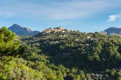 Mountain old village Coaraze, Provence Alpes Cote d'Azur, France Stock Photography
