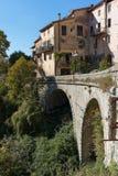 Mountain old village Luseram, Provence Alpes Cote d'Azur Royalty Free Stock Photos