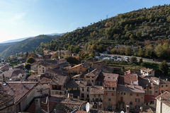Mountain old village Luseram, Provence Alpes Cote d'Azur Stock Photography