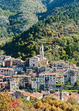 Mountain old village Luseram, Provence Alpes Cote d'Azur Royalty Free Stock Image