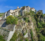 Mountain old village Luseram, Provence Alpes Cote d'Azur, France Stock Photo