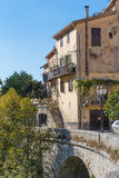 Mountain old village Luseram, Provence Alpes Cote d'Azur, France Stock Photos