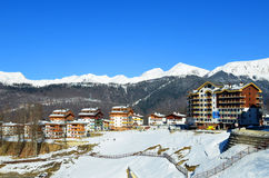 Mountain Olympic village in Krasnaya Polyana, Sochi city Royalty Free Stock Photography