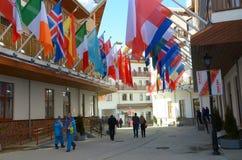 Mountain Olympic village in Krasnaya Polyana, Sochi city Stock Image