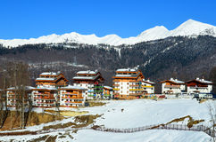 Mountain Olympic village in Krasnaya Polyana, Sochi city Stock Photo