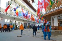 Mountain Olympic village in Krasnaya Polyana, Sochi city Stock Photography