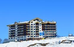 Mountain Olympic village in Krasnaya Polyana, Sochi city Royalty Free Stock Photo