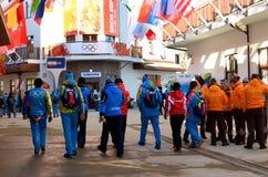 Mountain Olympic village in Krasnaya Polyana, Sochi city Royalty Free Stock Images