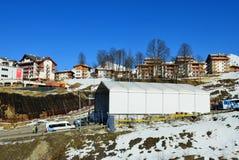 Mountain Olympic village in Krasnaya Polyana, Sochi city Stock Images