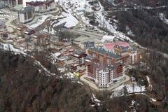 Mountain Olympic village Stock Photo