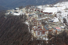 Mountain Olympic village Royalty Free Stock Photography