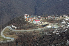 Mountain Olympic village Royalty Free Stock Photo