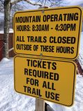 Mountain operating sign Royalty Free Stock Photo