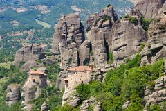 Mountain Monastery in Meteora, Greece Royalty Free Stock Photography
