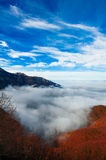 Mountain over the clouds Royalty Free Stock Image