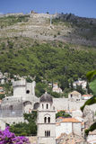 Mountain over Dubrovnik in Croacia Stock Photos