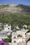 Mountain over Dubrovnik in Croacia Stock Photos