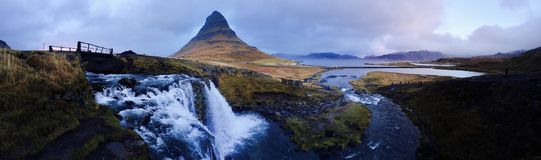 Mountain over Waterfalls Photo Stock Images
